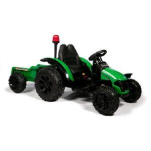 детский электромобиль трактор с прицепом
