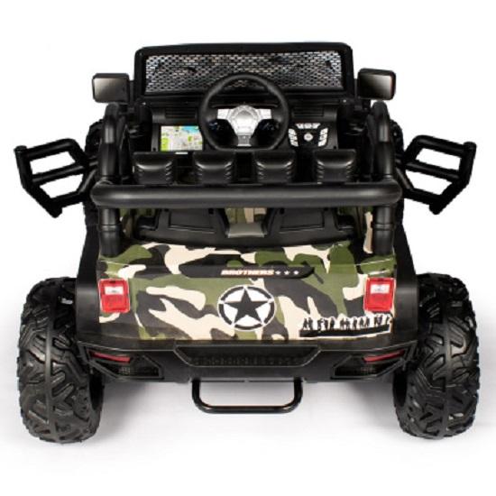 детский электромобиль, джип, вездеход, вид сзади