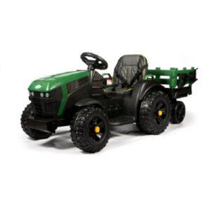 электрический детский трактор с прицепом